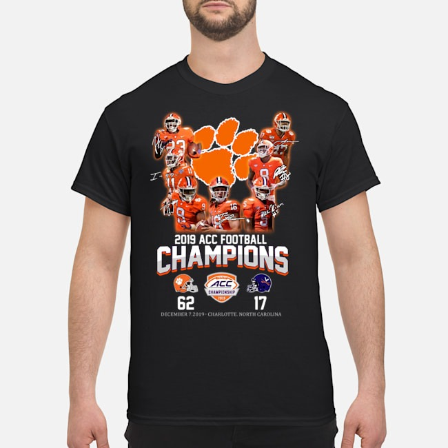 Clemson Wallpaper Football 2019 Acc Football Champions Shirt