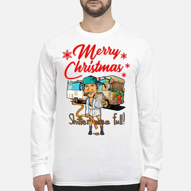 Cousin Eddie Merry Christmas Shitters Full Long Sleeved T-Shirt