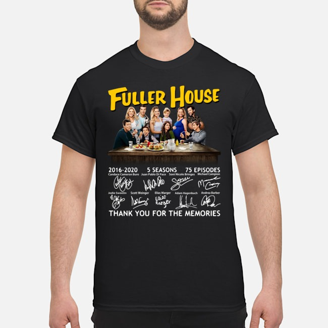 Fuller House 2016-2020 5 seasons 75 episodes thank you for the memories shirt