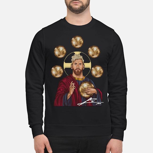 Jesus Messi Six Golden Ball Signature Sweater