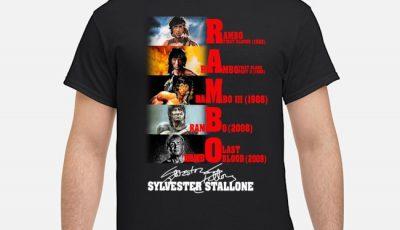 Rambo Sylvester Stallone Signatures Shirt