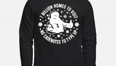 Santa 7 Billion Home Visits No Casenotes To Type Up Christmas Sweater