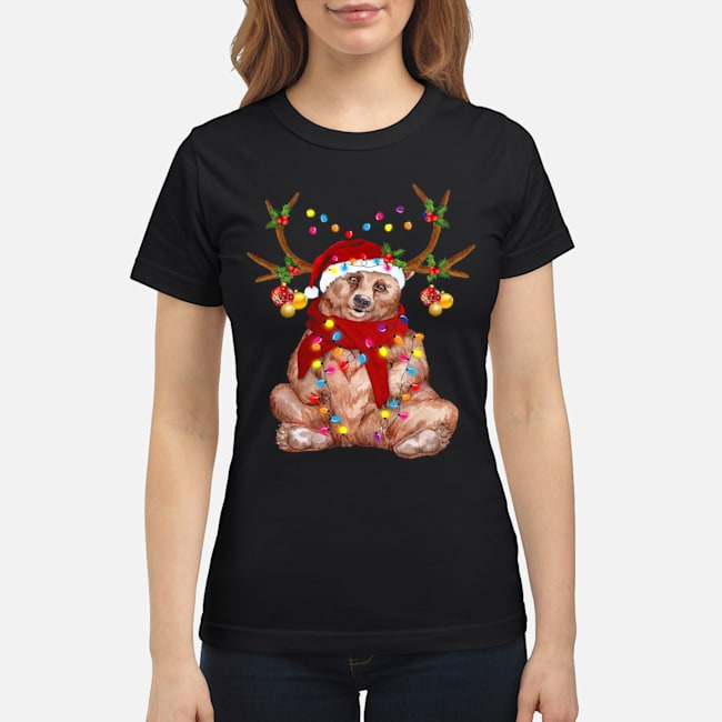 Santa Bear Reindeer Light Christmas Ladies