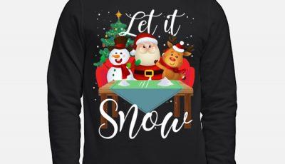 Santa Claus Reindeer Snowman Cocaine Let It Snow Chritmas Sweater