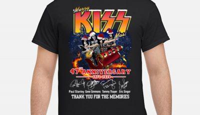 Santa Merry Kiss 47th anniversary 1973-2020 thank you for the memories shirt