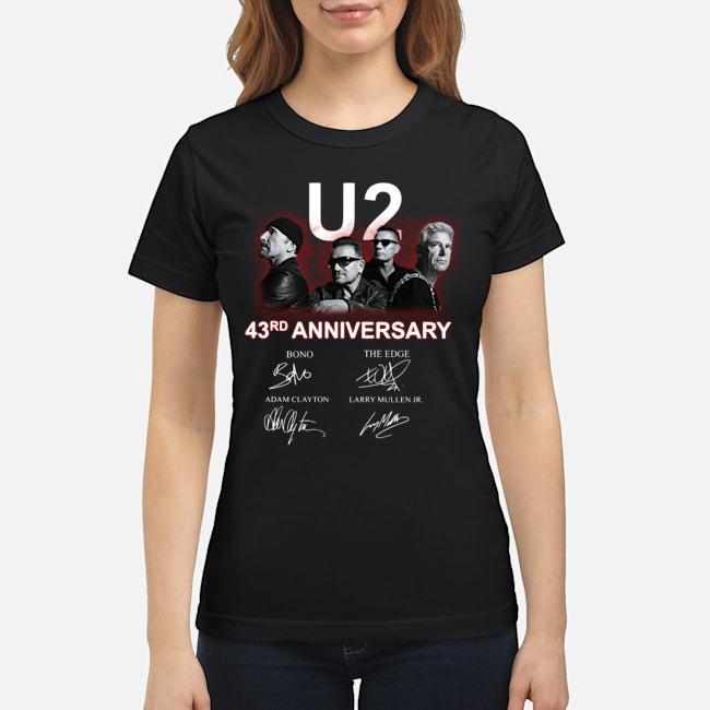 U2 43rd Anniversary Bono The Edge Adam Clayton Larry Mullen Jr Signatures Ladies