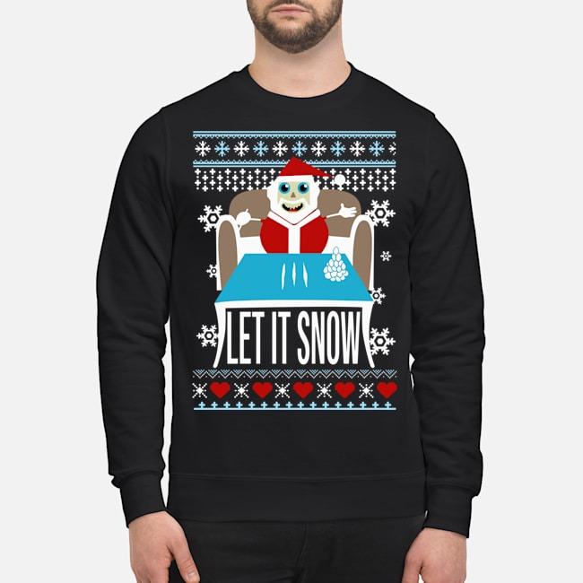 Walmart cocaine let it snow ugly Santa Christmas Sweater