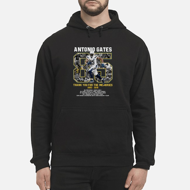 Antonio Gates 2003 2019 Thank You For The Memories 2003 2019 Hoodie
