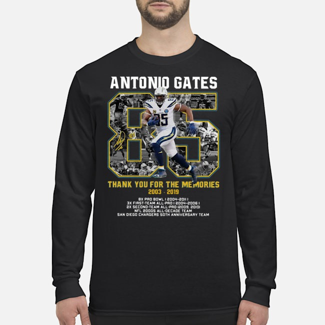 Antonio Gates 2003 2019 Thank You For The Memories 2003 2019 Long Sleeved T-Shirt