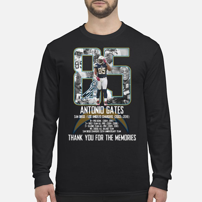 Antonio Gates Thank You For The Memories Long Sleeved T-Shirt