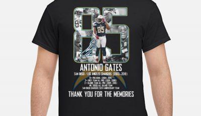 Antonio Gates Thank You For The Memories Shirt