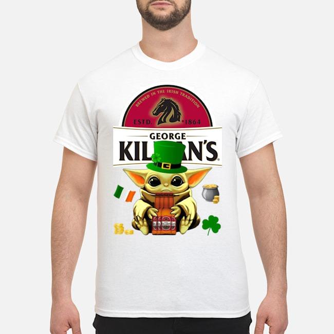 Baby Yoda Hug George Killian's Irish Red Beer St Patrick's Day Shirt