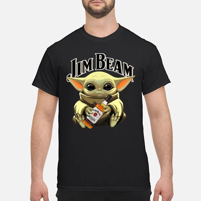 Baby Yoda Hug Jim Beam Shirt