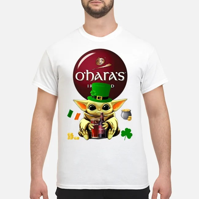 Baby Yoda Hug O'Hara's Irish Red Beer St Patrick's Day Shirt
