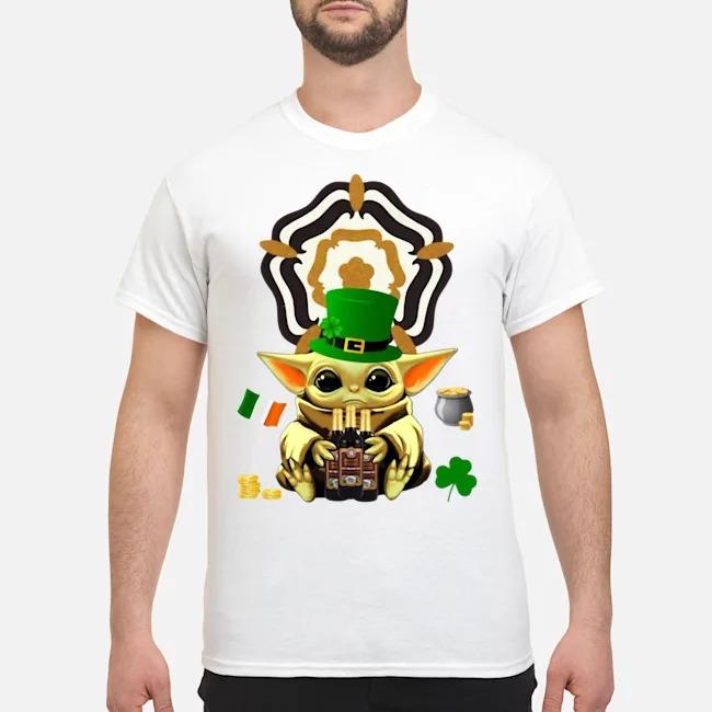 Baby Yoda Hug Samuel Smith's Nut Brown Beer St Patrick's Day Shirt