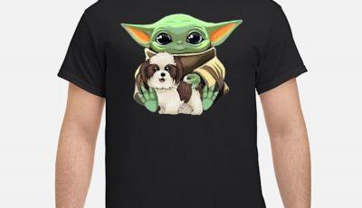 Baby Yoda Hug Shih Tzu Shirt