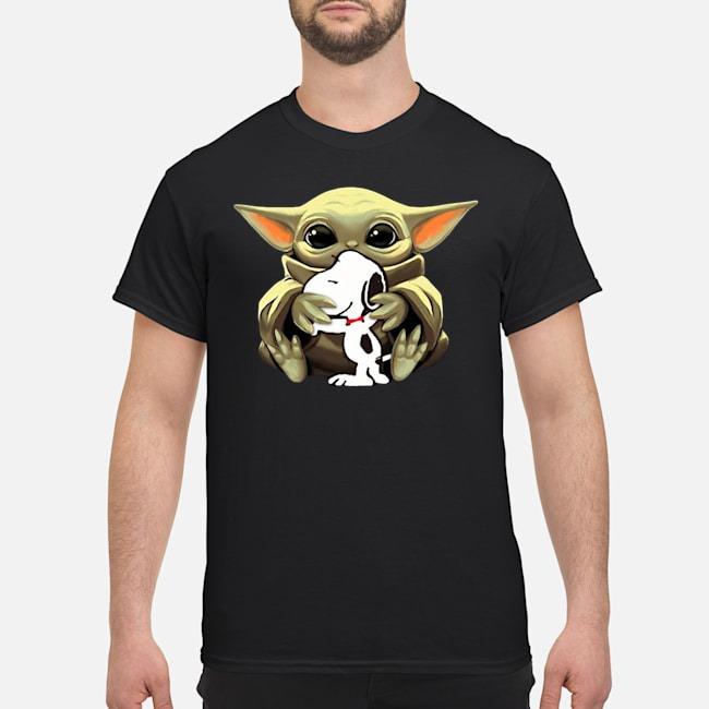 Baby Yoda Hug Snoopy Shirt