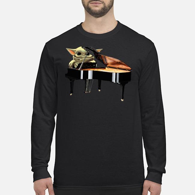 Baby Yoda Playing Piano Long Sleeved T-Shirt