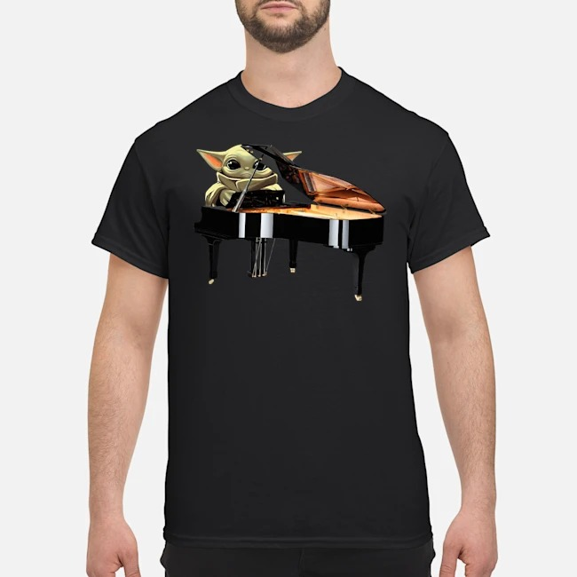 Baby Yoda Playing Piano Shirt