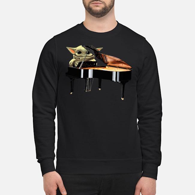 Baby Yoda Playing Piano Sweater