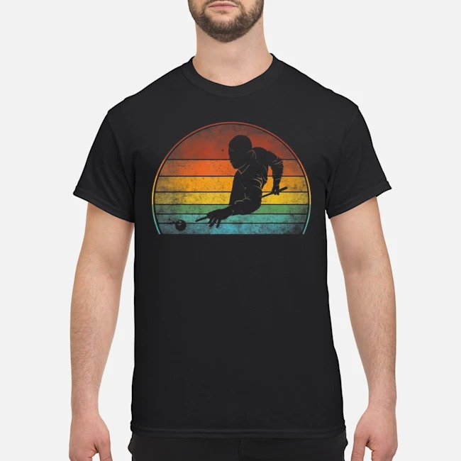 Billiards Player Retro Vintage Shirt