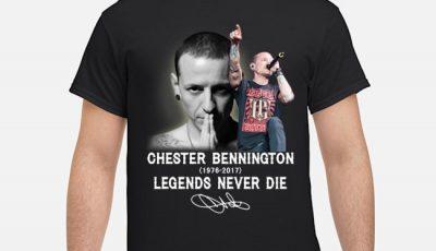 Chester Bennington Legends Never Die Signatures Shirt