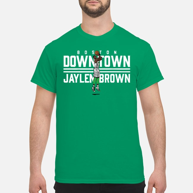 Downtown Jaylen Brown Boston Hoops Shirt