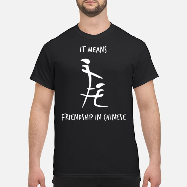 It Means Friendship In Chinese Tee Shirt