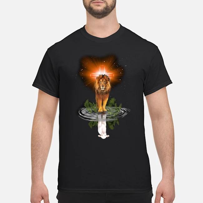 Lion Cross Jesus Reflection Water Mirror Sheep Shirt