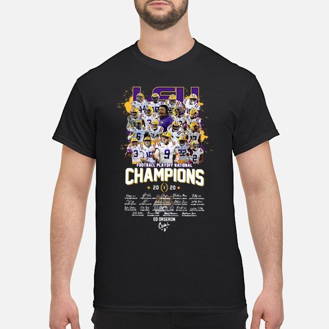 Lsu Tigers Football Playoff National Champions 2020 Signatures Shirt