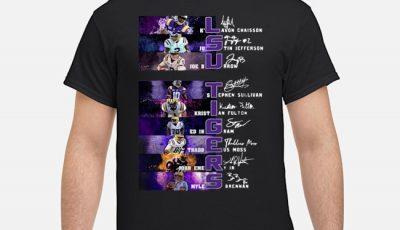 Lsu Tigers K Lavon Chaisson Justin Jefferson Joe Burrow Signatures Shirt