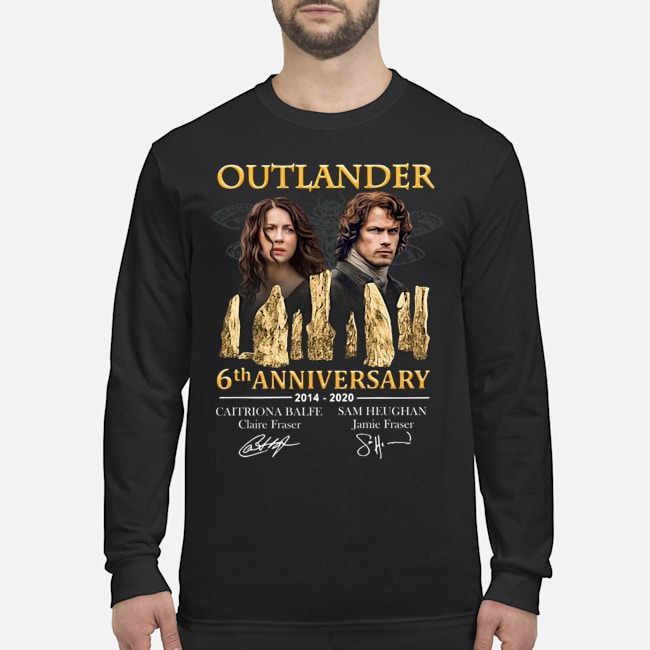 Outlander 6th anniversary 2014-2020 signatures Long Sleeved T-Shirt