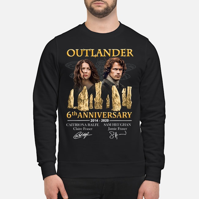 Outlander 6th anniversary 2014-2020 signatures Sweater