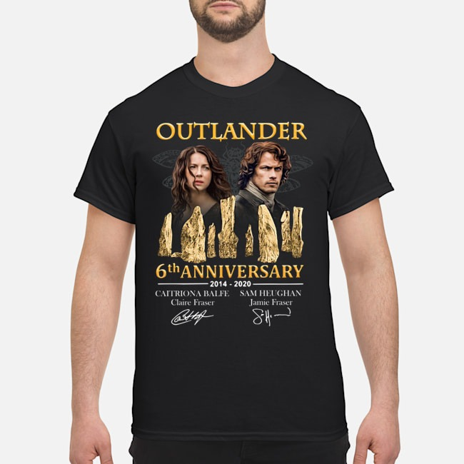 Outlander 6th anniversary 2014-2020 signatures shirt