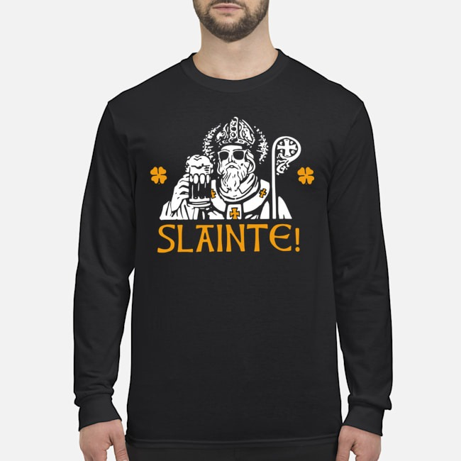 Slainte Happy St. Patrick's Day Drinking Beer Long Sleeved T-Shirt