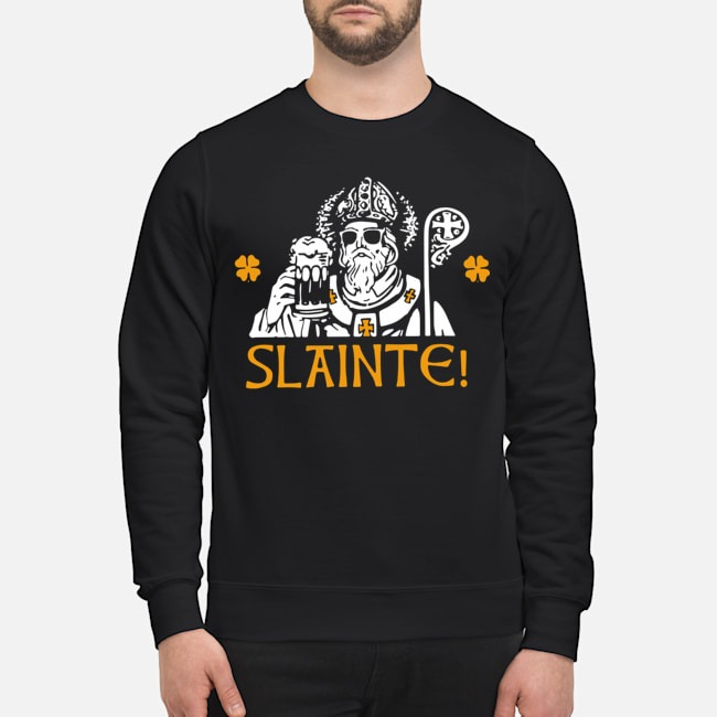 Slainte Happy St. Patrick's Day Drinking Beer Sweater