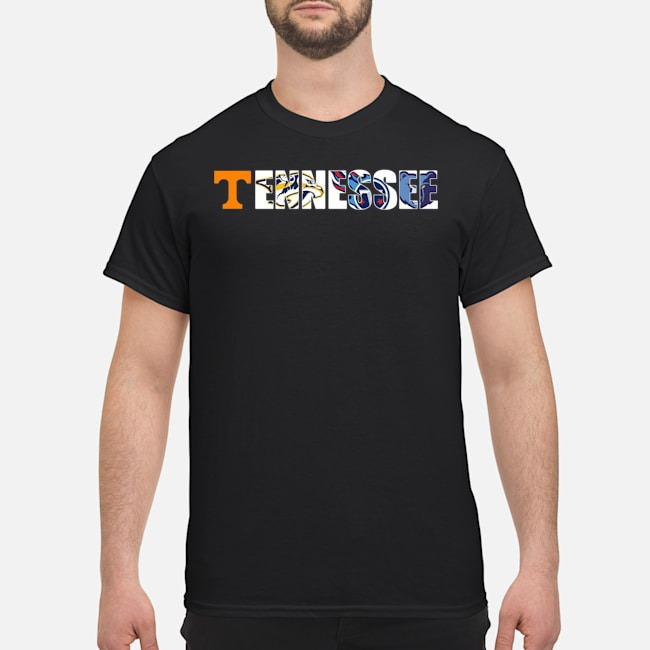 Sport Teams Tennessee Volunteer Titans Nashville Predators Shirt