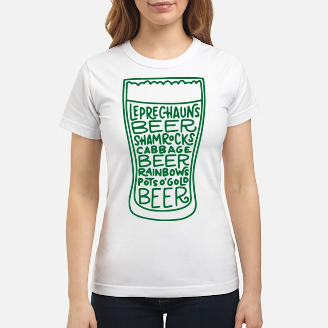 St. Patrick's Day Beer Glass Funny Quotes Ladies