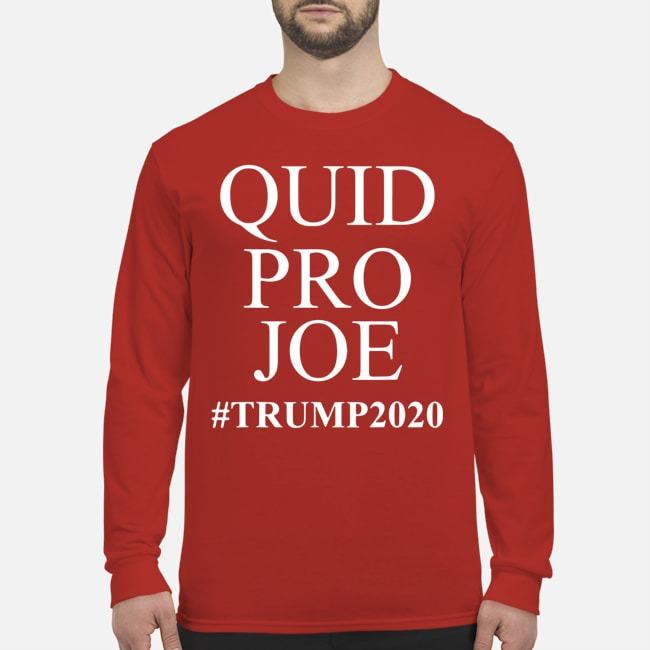 Trump Meme Sleepy Joe Biden Quid Pro Joe Long Sleeved T-Shirt