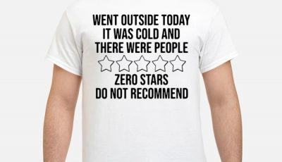 Went outside today it was cold and there were people zero stars do not recommend shirt