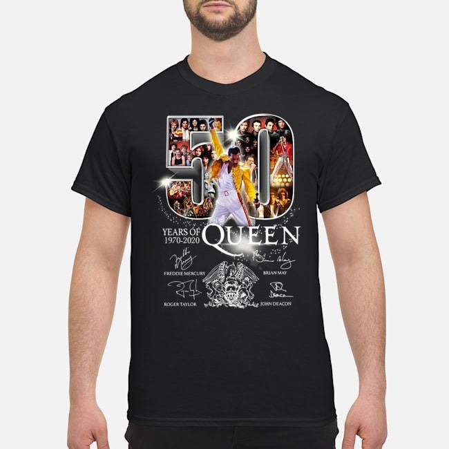 50 Years Of 1970 2020 Queen Signatures Shirt