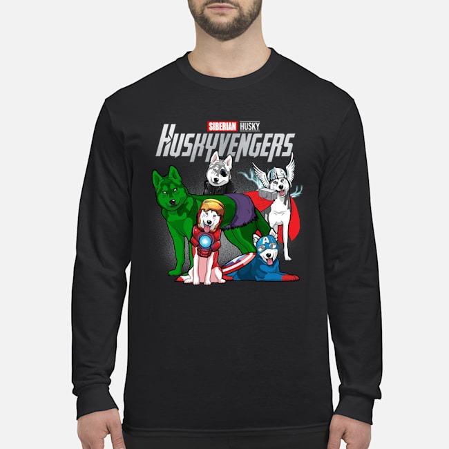 Avengers Endgame Siberian Husky Huskyvengers Long Sleeved Shirt