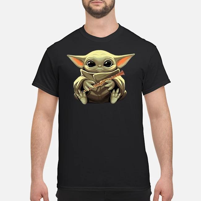 Baby Yoda Hug Clarinet Shirt