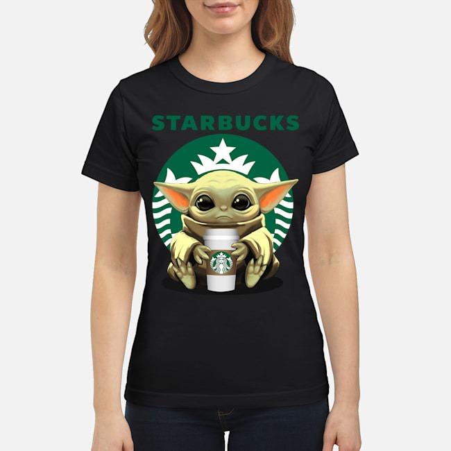 Baby Yoda Hug Starbucks Tee Ladies
