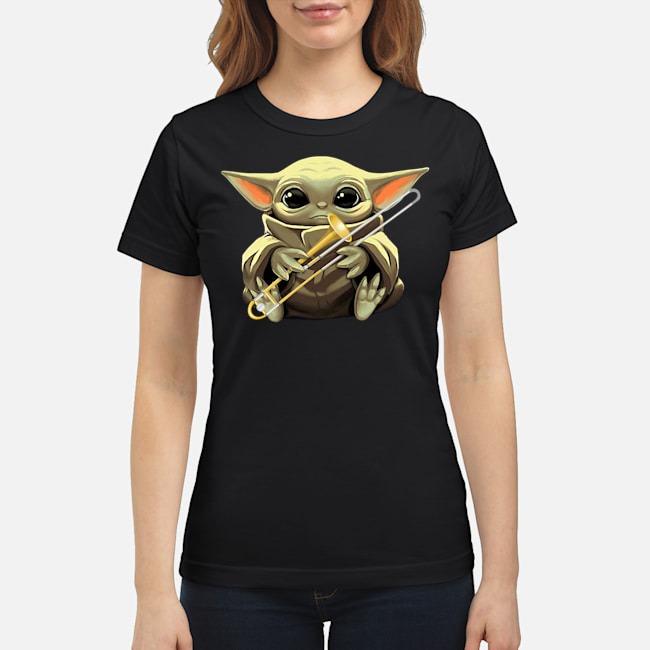 Baby Yoda Hug Trombone Ladies