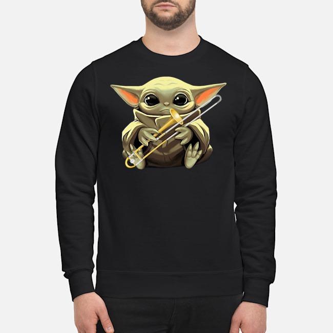 Baby Yoda Hug Trombone Sweater