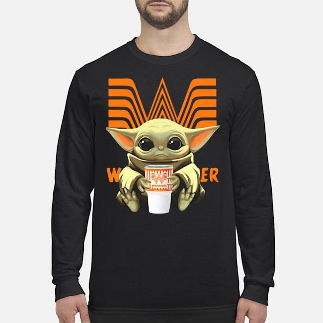 Baby Yoda Hug Whataburger Long Sleeved Shirt