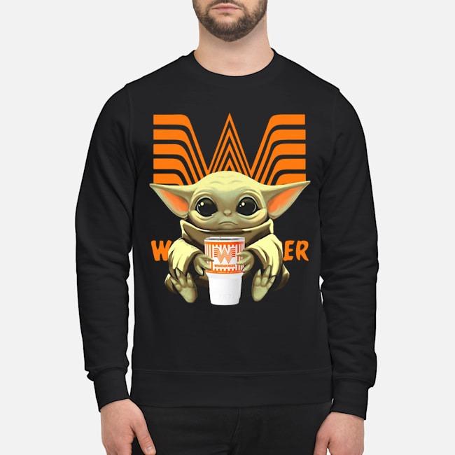 Baby Yoda Hug Whataburger Sweater