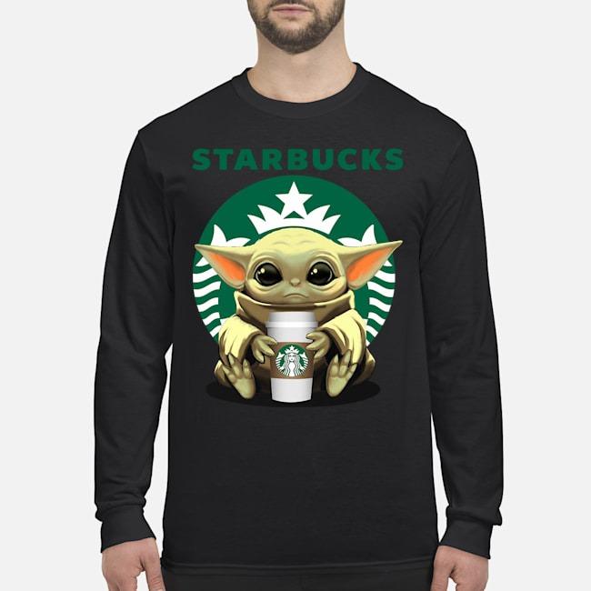 Baby Yoda hug Starbucks Long Sleeved T-Shirt