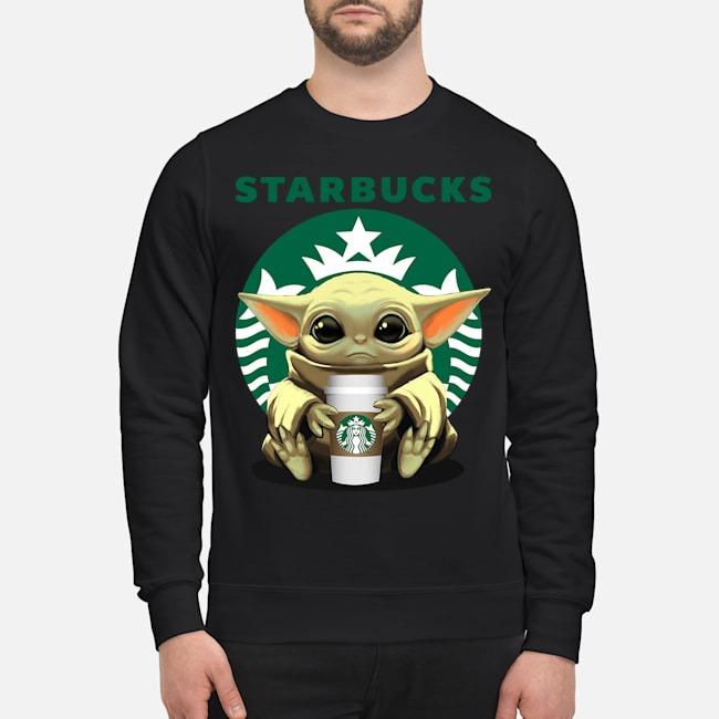 Baby Yoda hug Starbucks Sweater